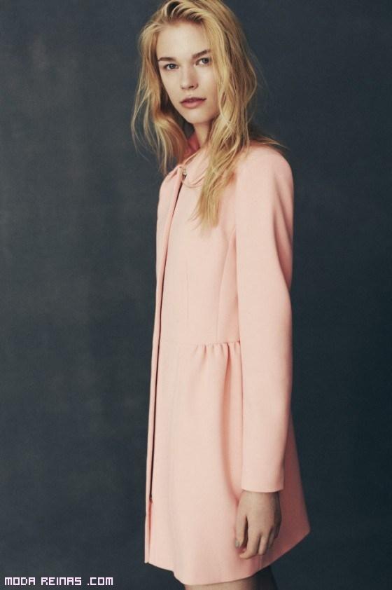 abrigos de solapas cortas en rosa