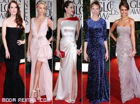 Mejores looks en los globos de oro 2012