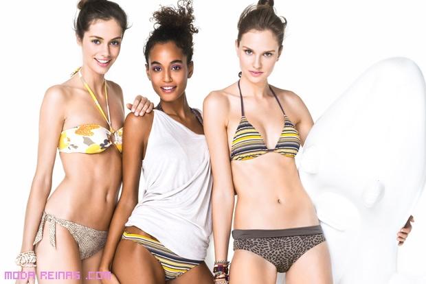 Bikinis con colores de moda