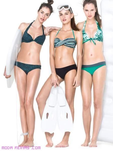 escotes de bikinis