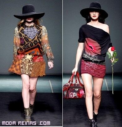 moda femenina con estampados étnicos