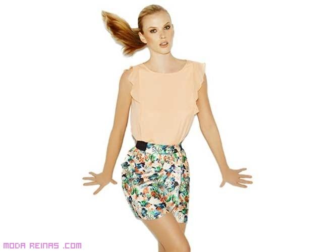 Faldas estampado floral