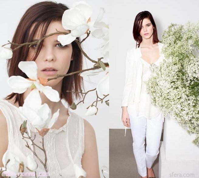 Blusas en color blanco