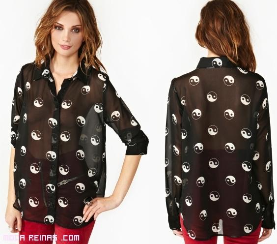 blusas estampadas transparentes