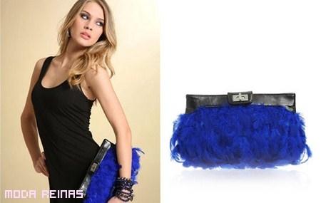 Bolso azul de fiesta