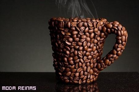 café grano humeante