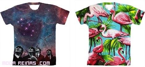 Estampados de grupos musicales en camisetas