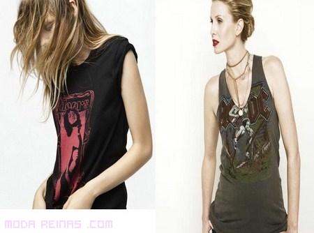 Camisetas negras para mujer