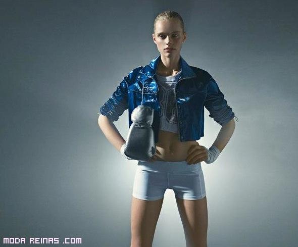 cazadoras en tonos azules de moda