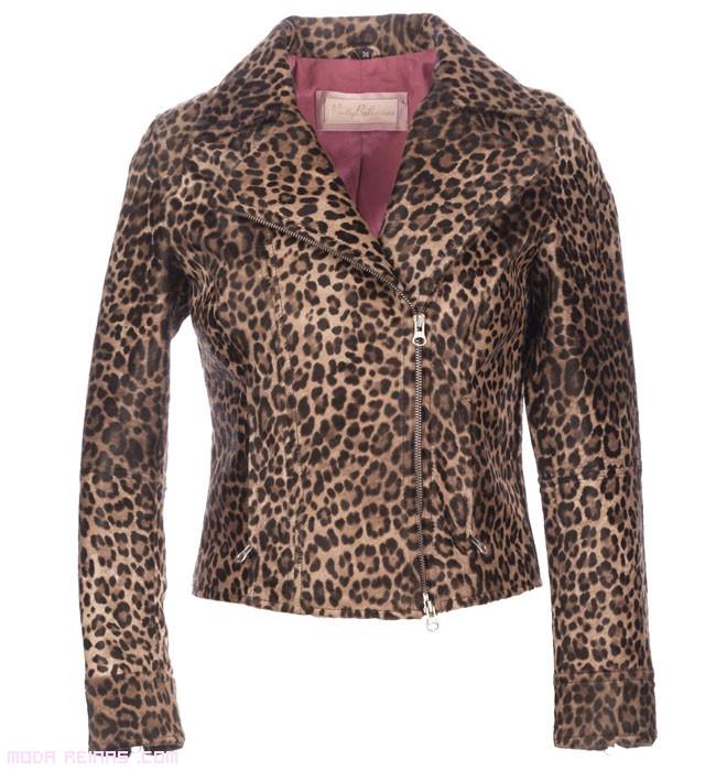 cazadoras con estampado leopardo