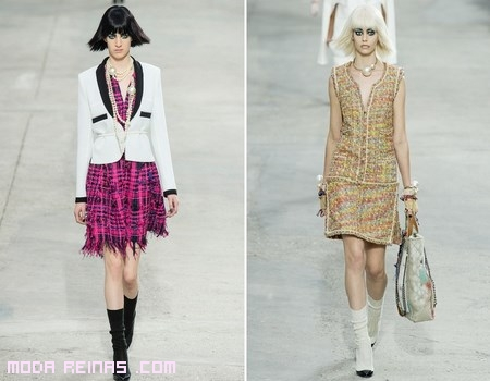 vestidos estampados de Chanel