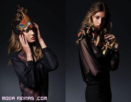 blusas de gasa en color negro