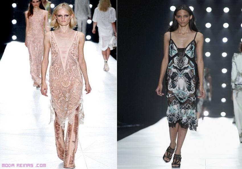 vestidos con transparencias de moda