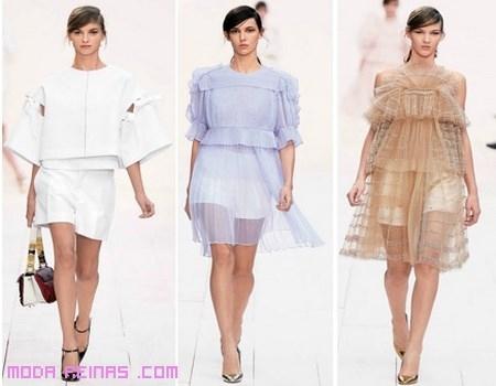 vestidos de moda transparentes