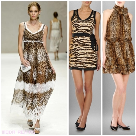 vestidos cortos y lagos felinos