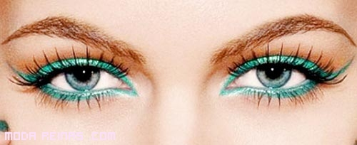 Eye-liner en color verde
