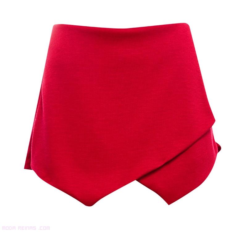 faldas de tela cortas