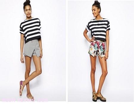 Faldas cortas para verano 2014