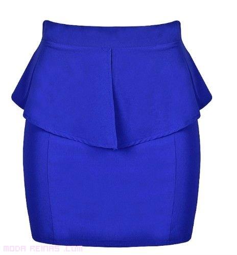 faldas azules de moda
