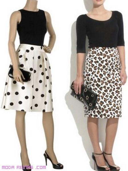 Faldas cortas estampadas de moda