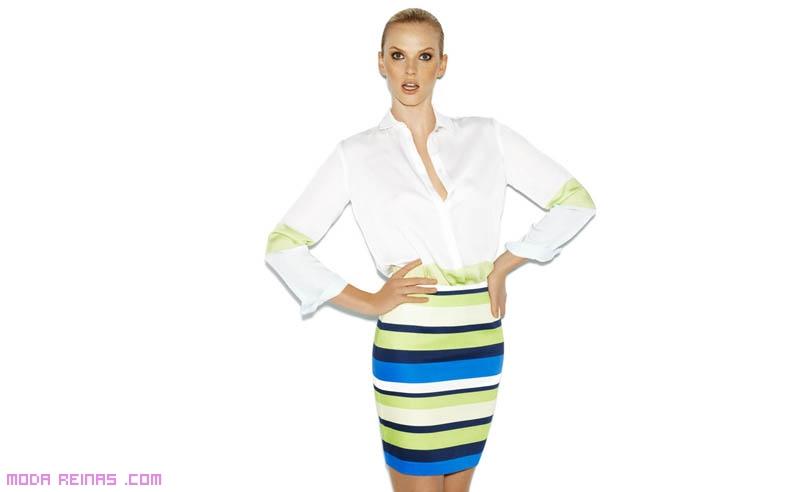 Faldas de rayas a la moda
