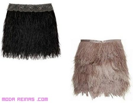 5b084ce29 Faldas con plumas, para un look sexy | Moda Reinas