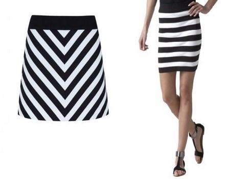 faldas cortas bicolor