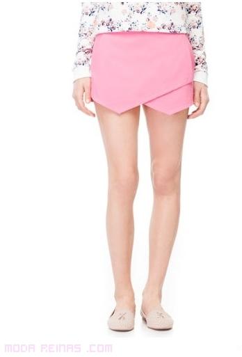 faldas cortas en color rosa