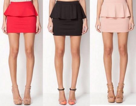 Faldas cortas de colores