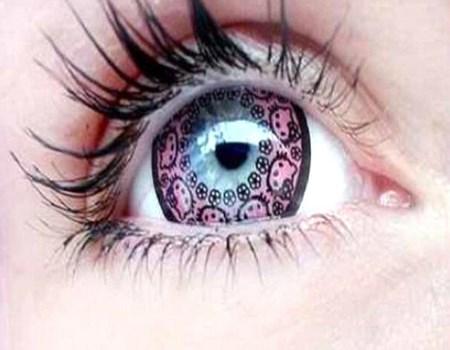 belleza femenina con lentillas