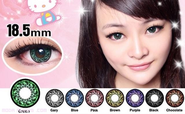 lentes de contacto modernas