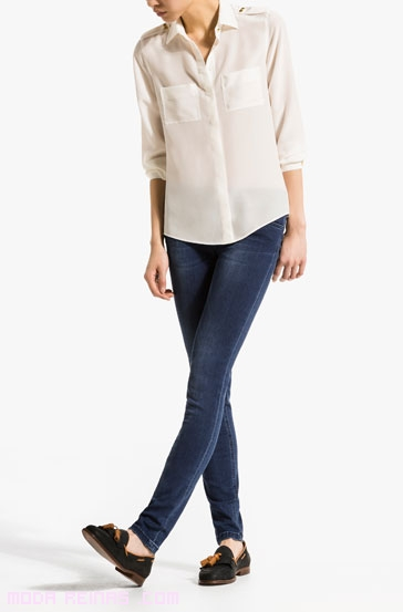 Blusas semi-transparentes de moda