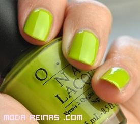 Esmaltes verde limón