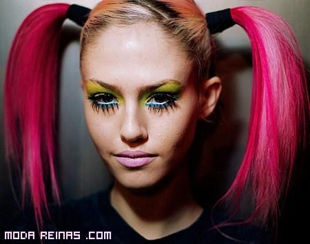Maquillaje verde neón