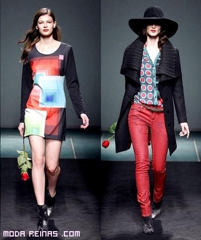 moda femenina en colores rojos