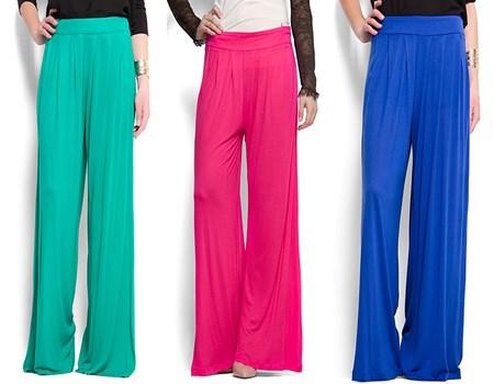 Pantalones de tela en color