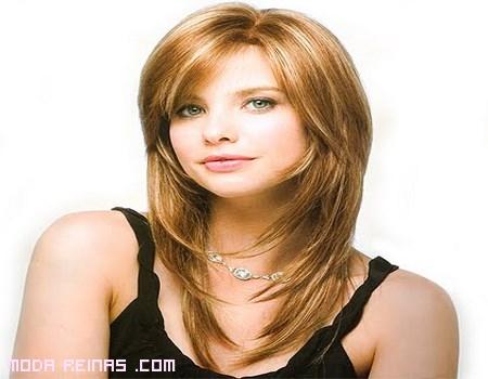 Peinados para las caras redondas - Peinados de melenas largas ...
