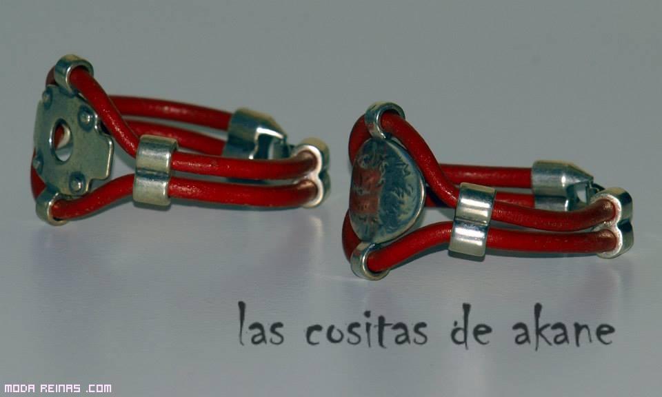 pulseras modernas de cuero y zamak