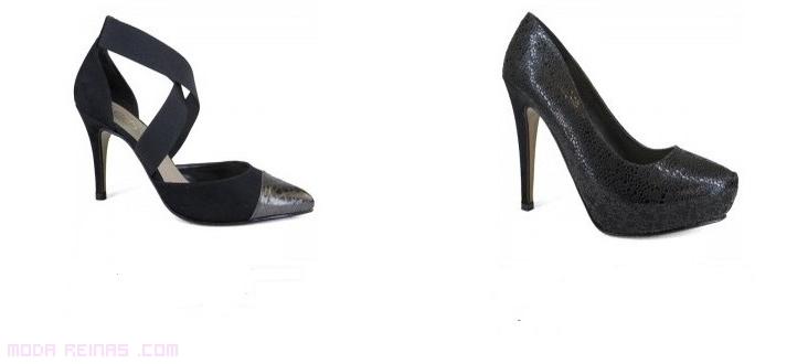 tacones de moda en negro para fiestas
