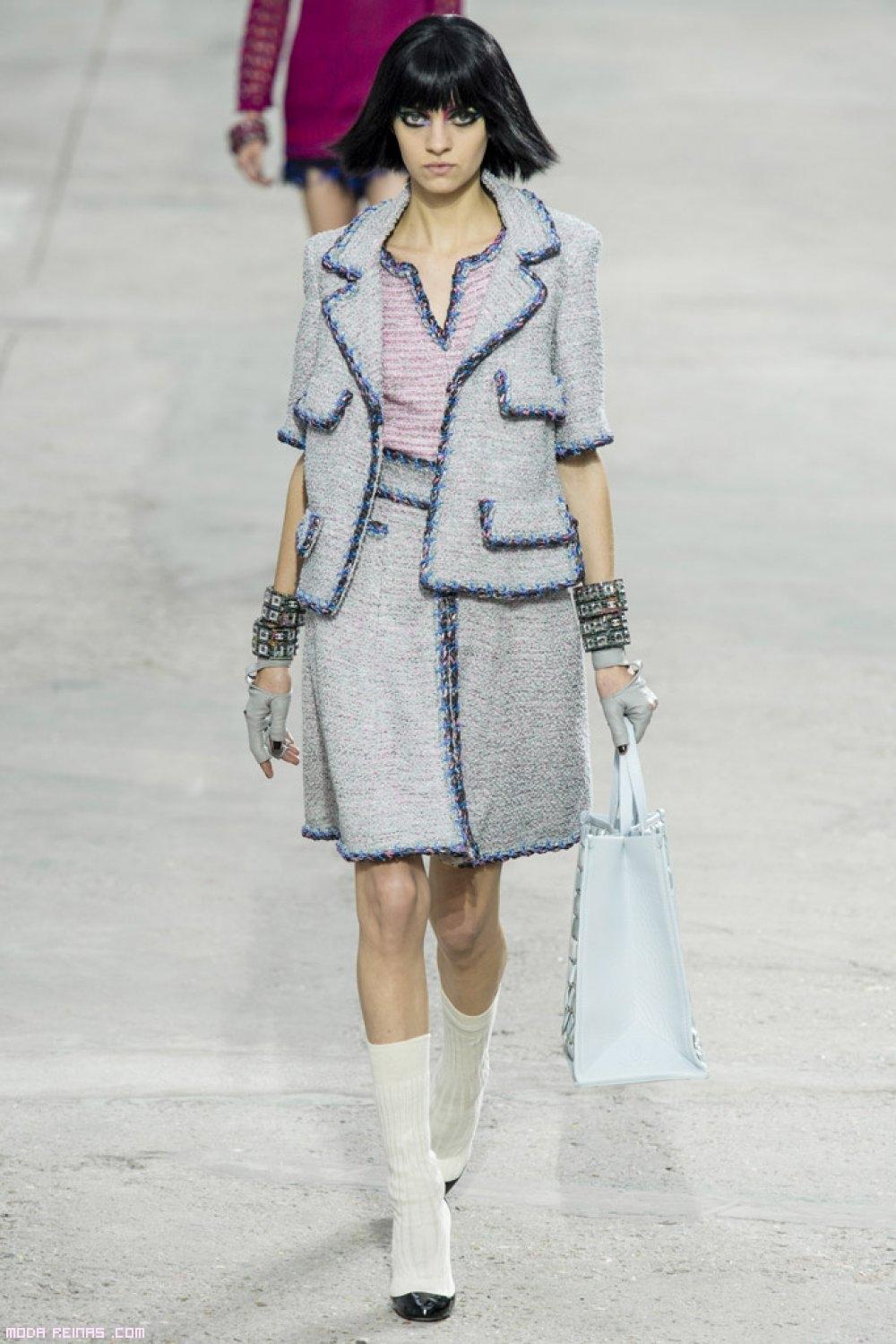 trajes tweed de moda
