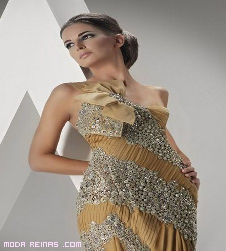 vestidos dorado