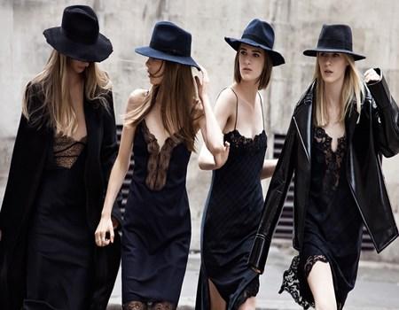 vestidos cortos en negro