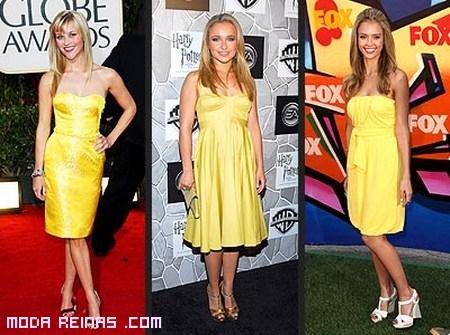 famosas vestidas de amarillo