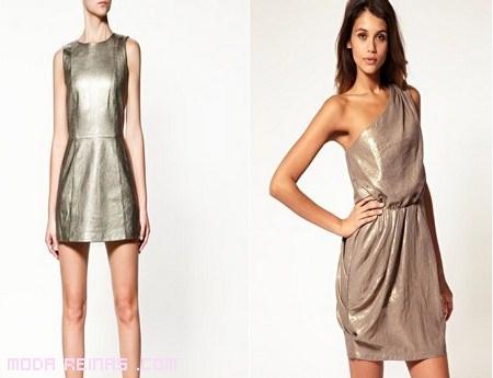 Vestidos de moda metalizados