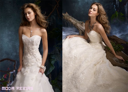 Vestidos-de-novia-con-encaje-y-gasa
