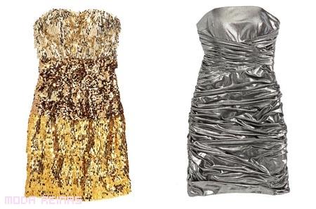 Vestidos-dorados-y-plateados-para-fiesta