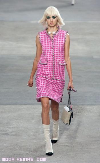 Vestidos con bolsillos rosa y gris