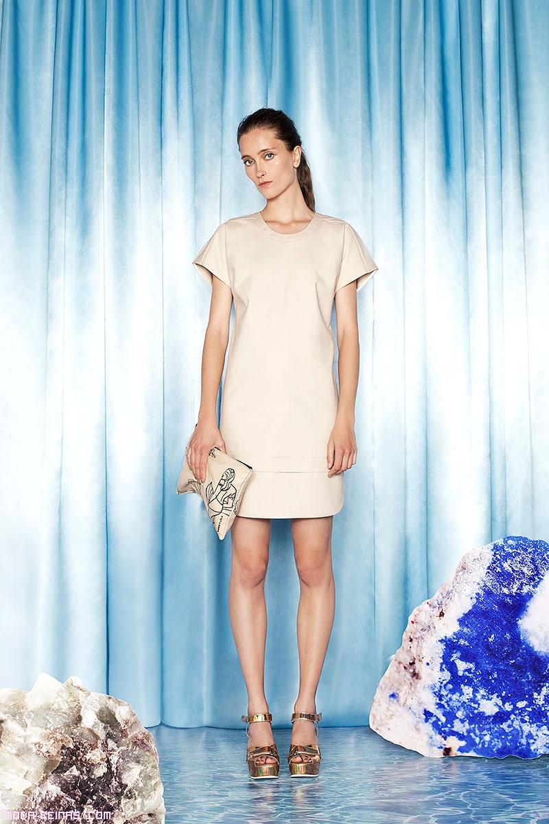Vestidos minimalistas en marfil