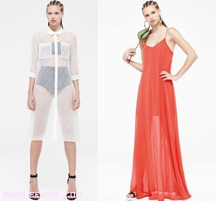 Vestidos de tendencia semi-transparentes