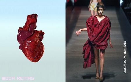 Vestido original de corazon humano
